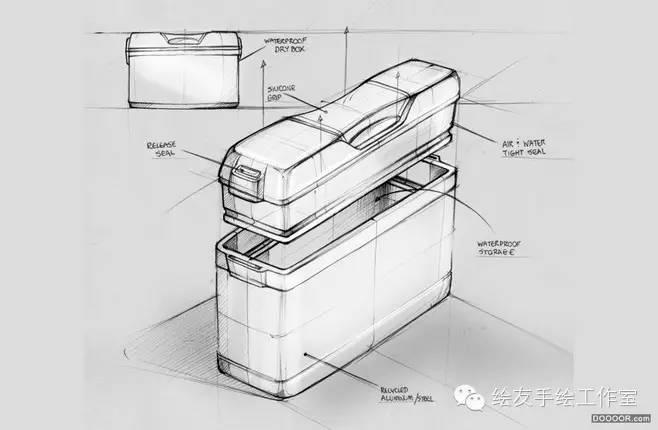 【素材】优秀工业设计手绘线稿,留着慢慢练习