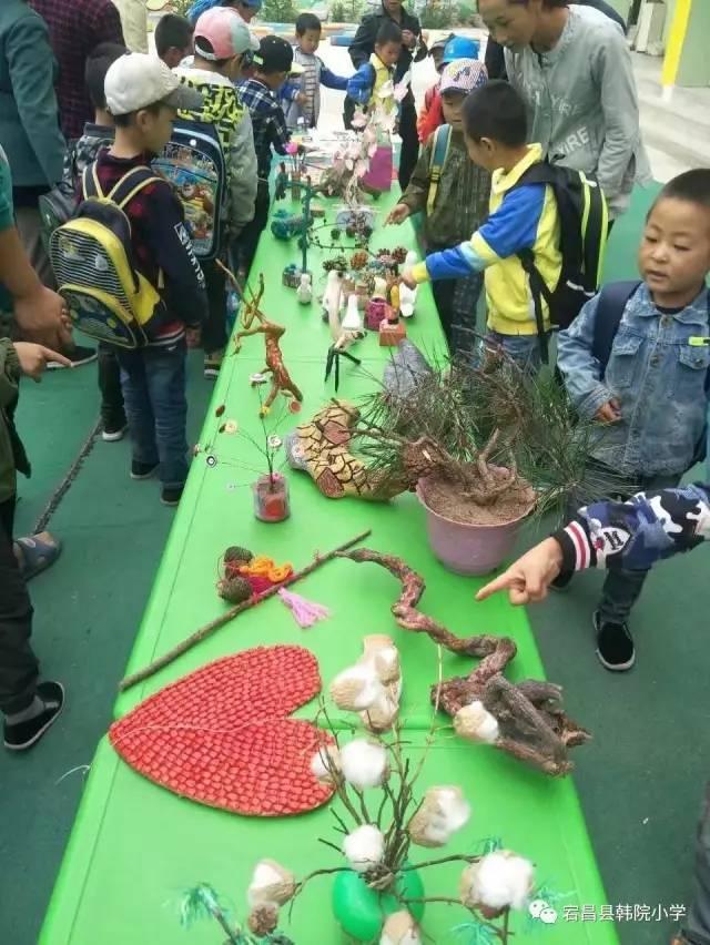 """【校园动态】""""向大自然要材料""""之—韩院幼儿园暑期手工作品展图片"""