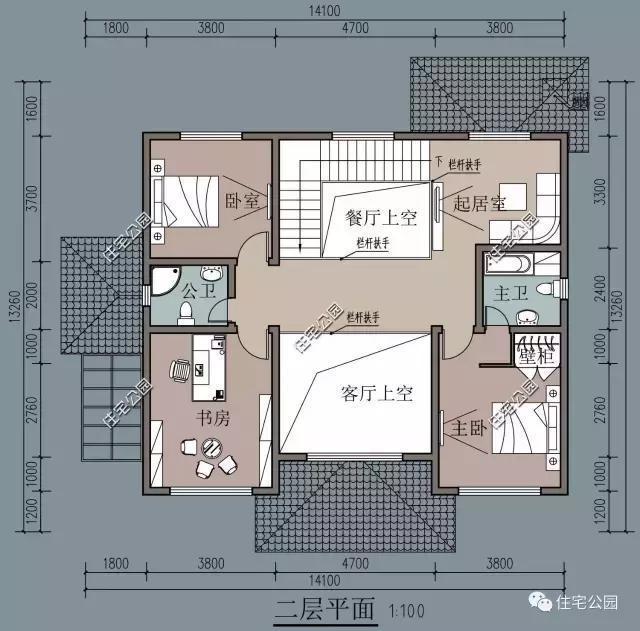 农村二层别墅设计图我需要130平方米两层半的农村小别墅图纸,我是坐