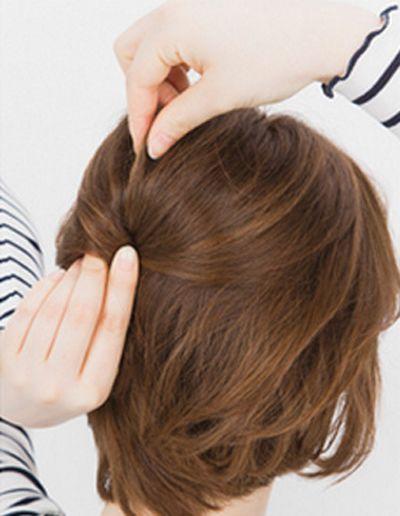 2款俏皮好看的学生短发扎发发型图解!图片