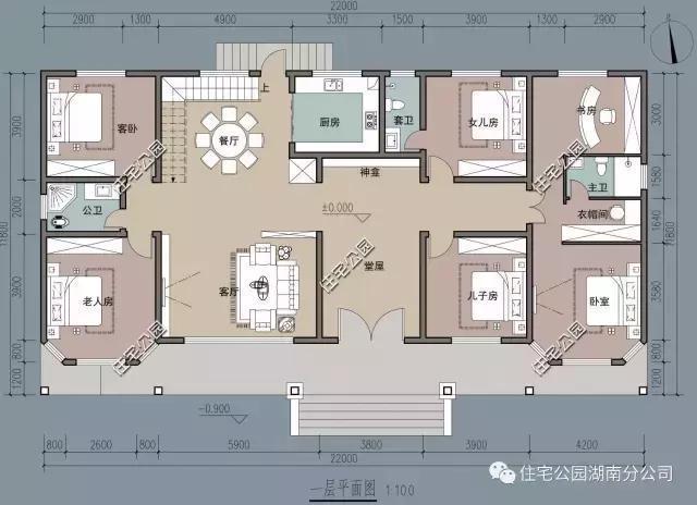 楼主需要的农村小户型cad别墅房屋设计平面图纸及外观效果图,我推荐给图片