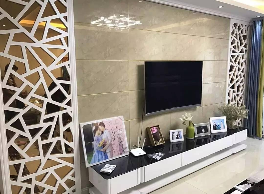 瓷砖电视背景墙,这才叫高档!吉安现在最流行!