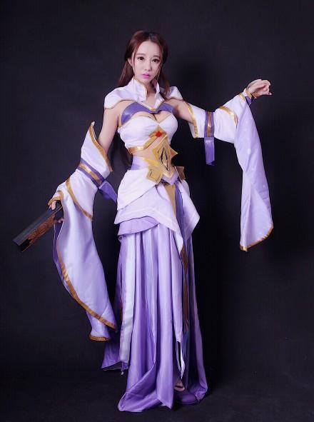 王者榮耀貂蟬和紫霞仙子cos正片對比圖片