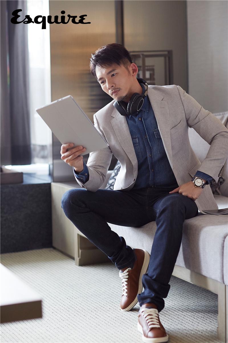 温升豪最新杂志大片 多变造型诠释成熟男人魅力
