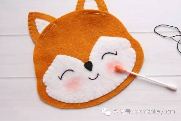 幼儿园亲子手工制作之可爱的小狐狸,附模板!