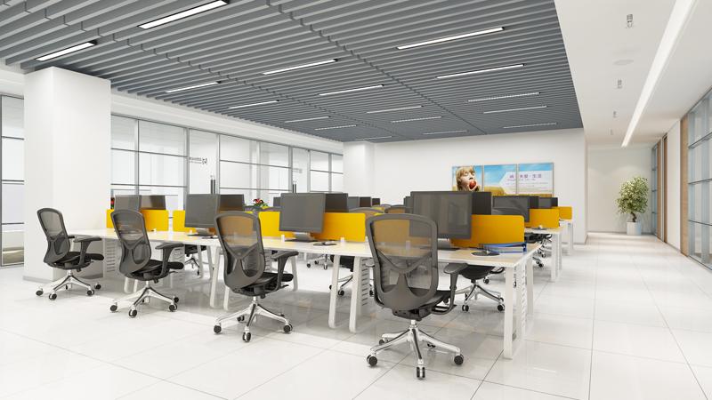 西安高科技公司办公室装修设计图图片