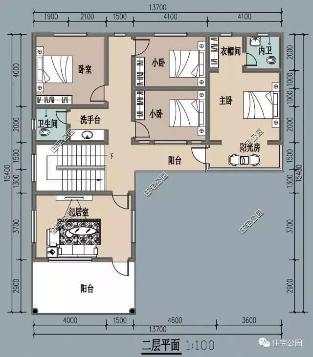 微信公众号:住宅公园,500套农村别墅图纸,私人定制设计,专业工程师