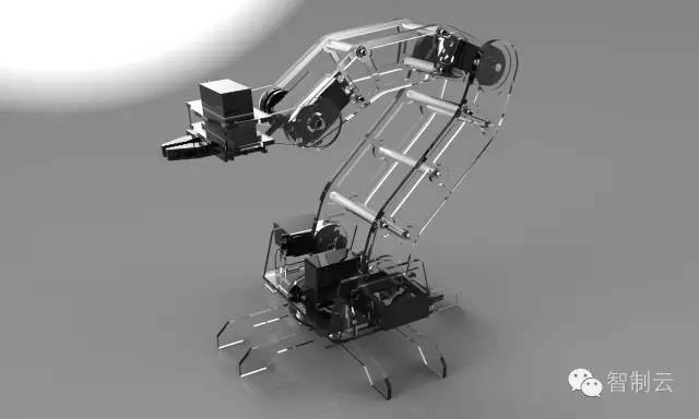 【机器人】伺服电机机械臂3d图纸 solidworks设计