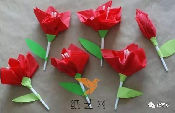 漂亮的儿童手工纸艺花教师节礼物制作教程