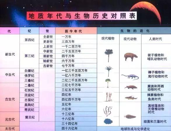地质年代表 - shufubisheng - 修心练身的博客