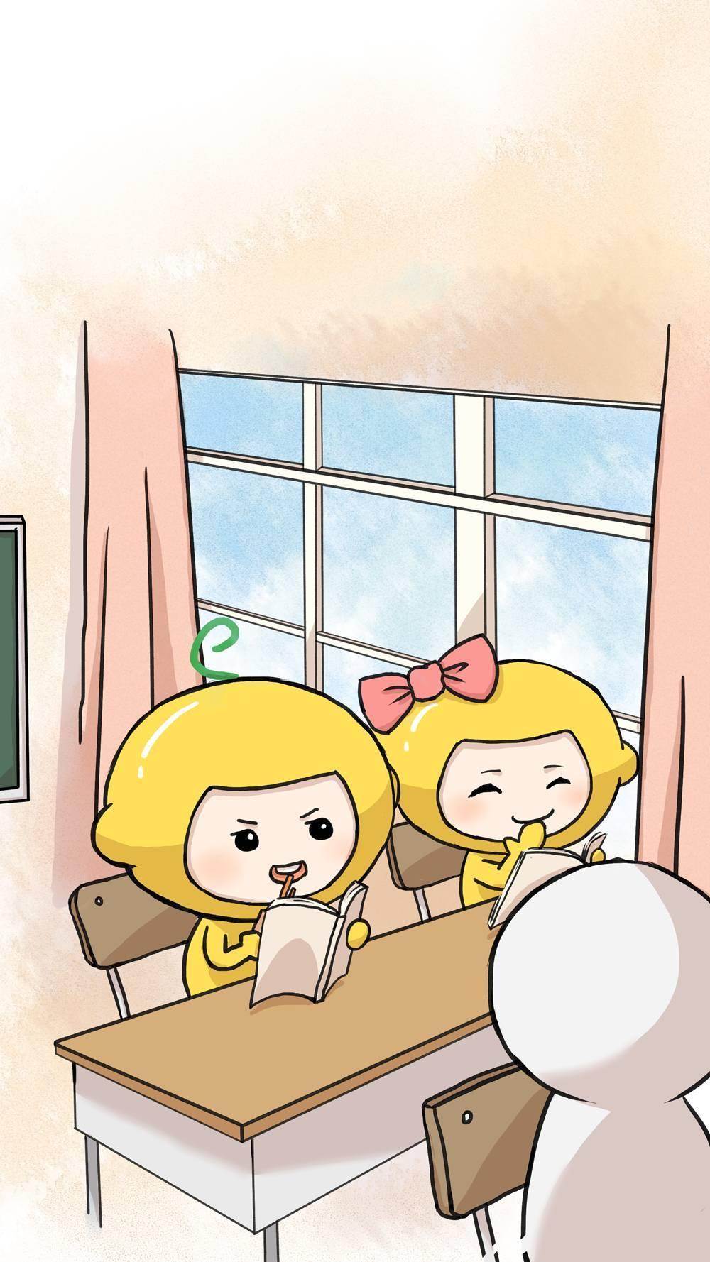 柠檬family | 开学啦!又到了上课偷吃辣条的日子图片