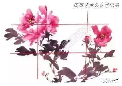 名家写意牡丹新构图 国画牡丹构图 画法及调色教程