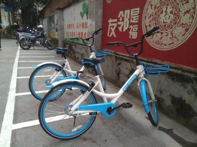 前几天哈罗共享单车还在原有3000辆的基础上增加了200辆的蓝色单车.