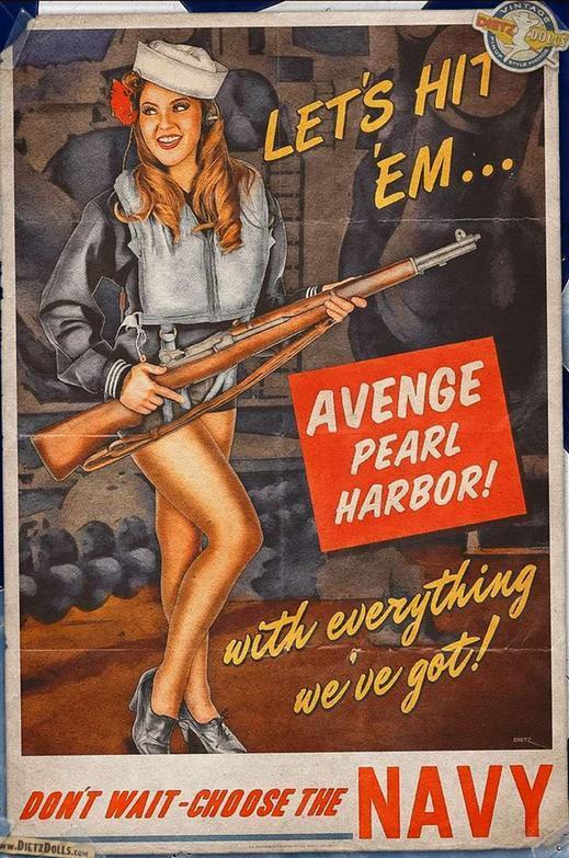 二战美军是用这些美女宣传画,将士兵骗上战场