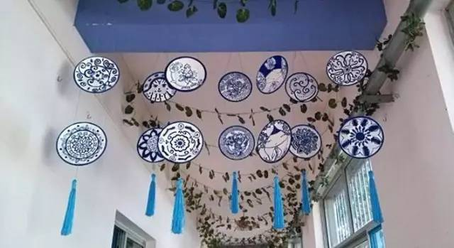 青花瓷纸盘,满满的中国风 枫叶做成的风铃,暖意满满 海底世界主题:一