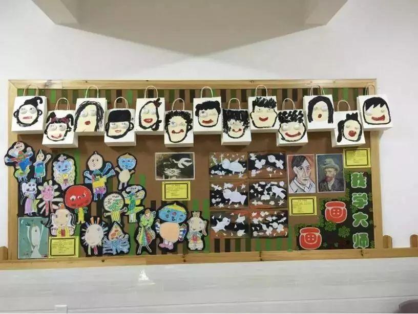 幼儿对班级的墙面做好规划,将展示板的内容进行大致分类,如互动类展板