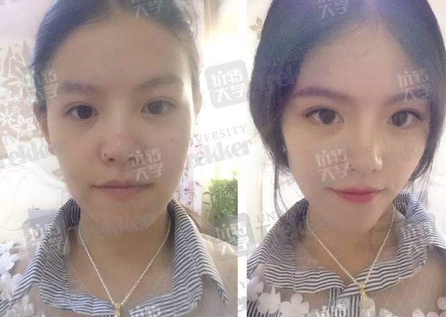 12组大学生素颜和化妆后的对比照片:最后一个超惊艳!