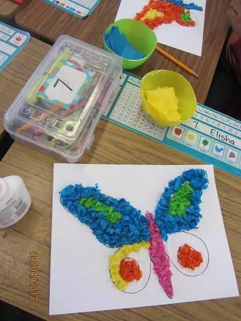 有趣的粘贴画和揉纸画,老师们赶紧收藏吧