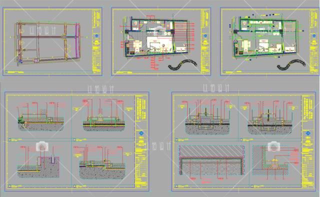 新中式民宿cad平面图