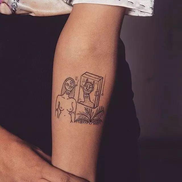网红半臂纹身图片展示