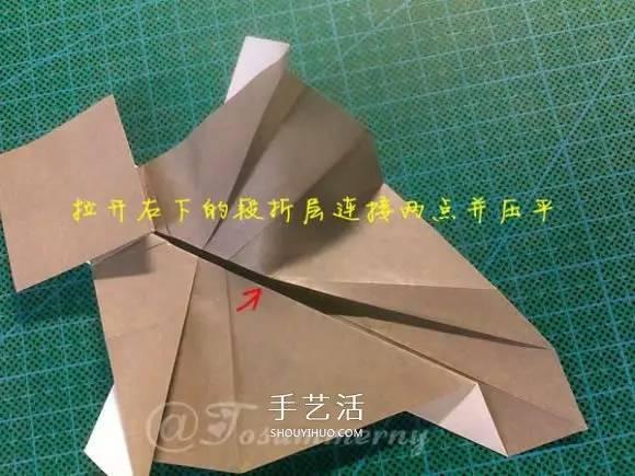 兔八哥的折纸方法图解 大牙兔的折法步骤图