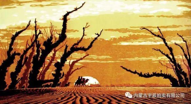 作者通过明暗关系处理,焦点透视等处理,来表现昏黄闲暇的牧归场景.
