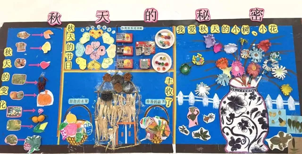 新学期,100%用到的主题墙,秋天,国庆,中秋,创意墙图片
