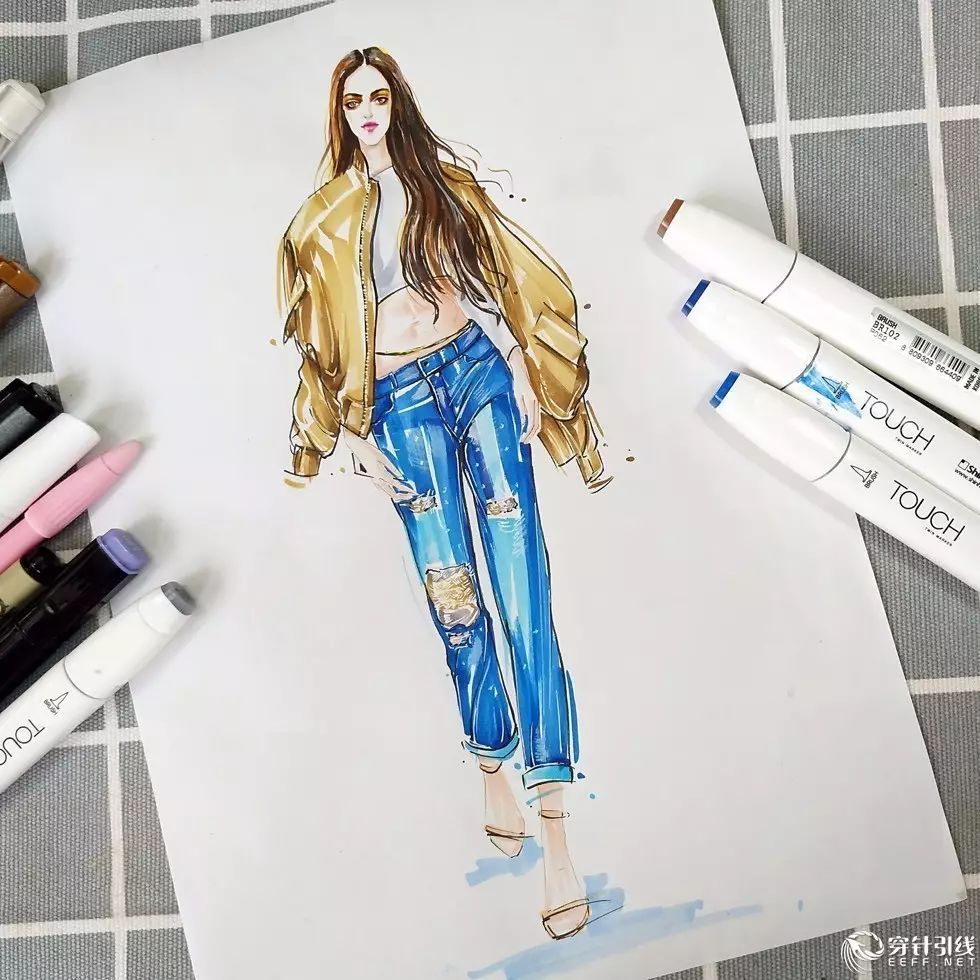 时装手绘 | 马克笔时装画