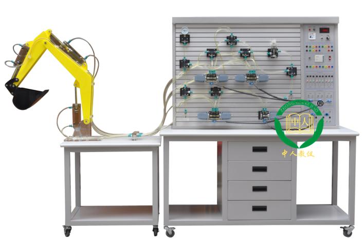 透明液压plc控制实训装置,挖掘机液压实训台-上海中人公司图片