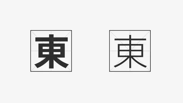 5. 字怀   字怀是指字体内笔画间的留白部分多少.
