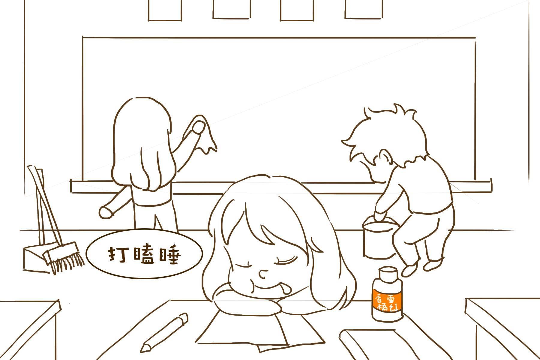 手绘上课礼简单图片