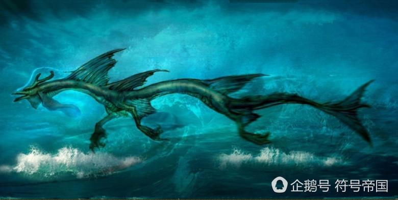 上古神獸蛟龍,蛟和龍交合的產物,卻與魚類同池,甘做它們的首領圖片