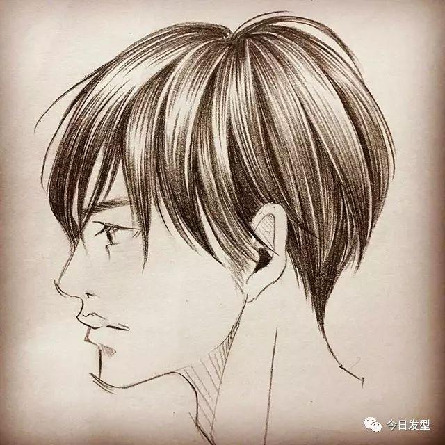 手绘文艺卷发男生头像