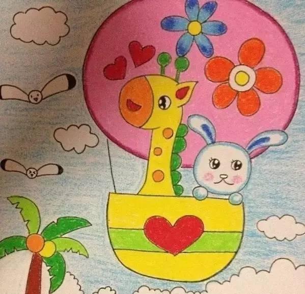 幼儿园蜡笔画,小朋友们的最爱!图片