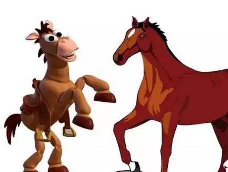 一个主人有一匹千里马和一头毛驴,它俩都给主人干活:驴拉磨,马驮着主图片
