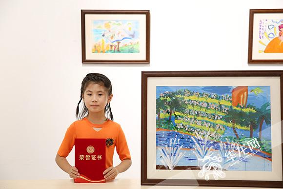 8岁小女孩手绘梦想 为家庭赢得新加坡亲子游大奖