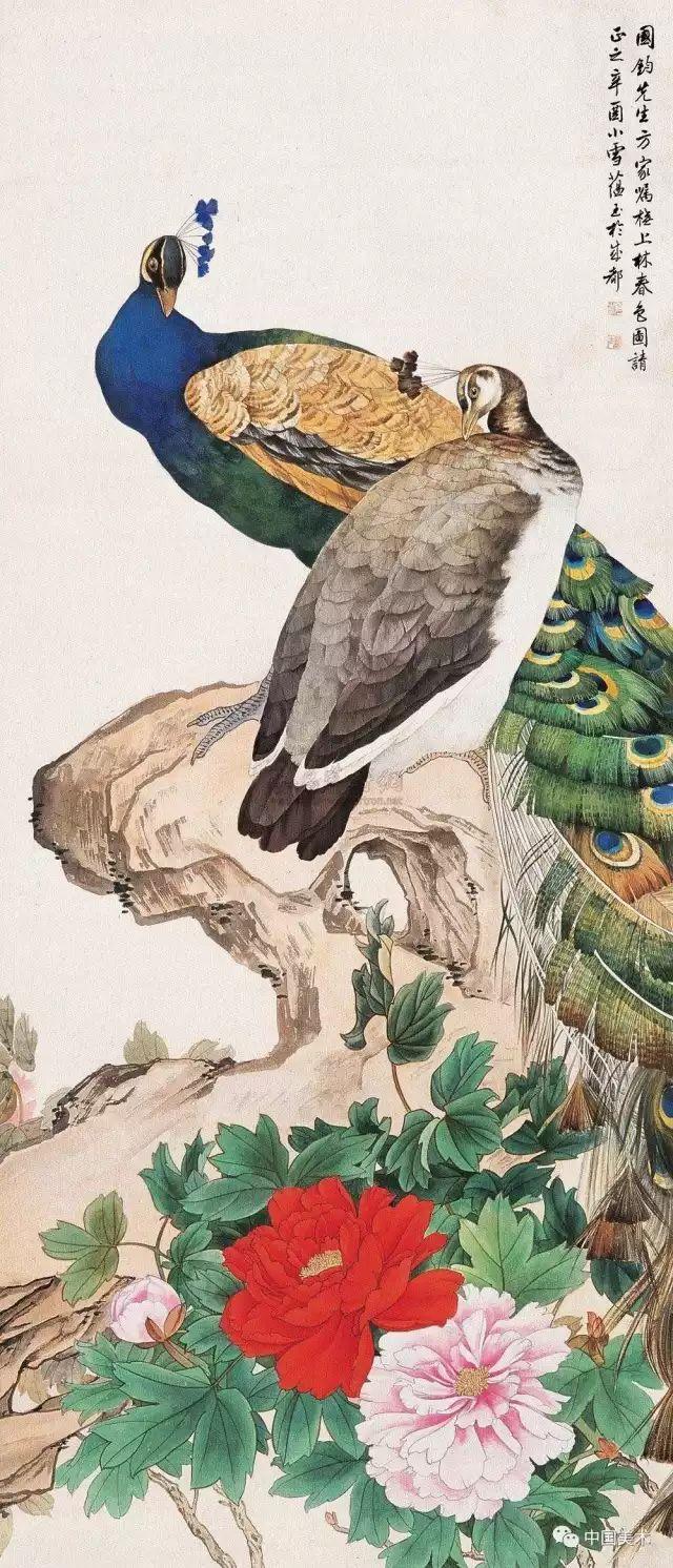 千姿百态,而且技法娴熟,描绘精微,形象生动;在他的花鸟画中,又以善画图片