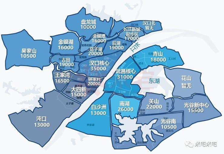 务必收藏的一张武汉房价地图!图片