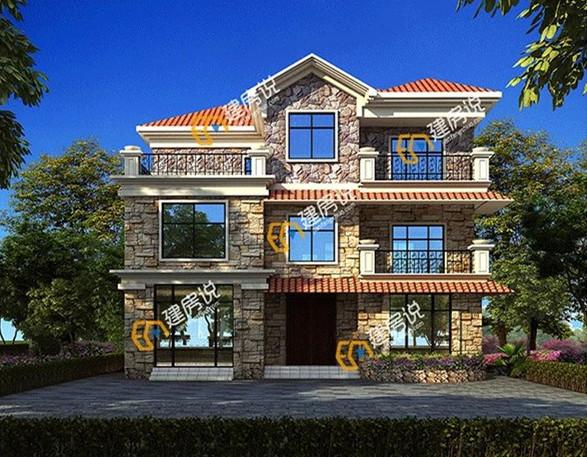 3套三层农村别墅户型,年轻人就喜欢这样的房子,带平面