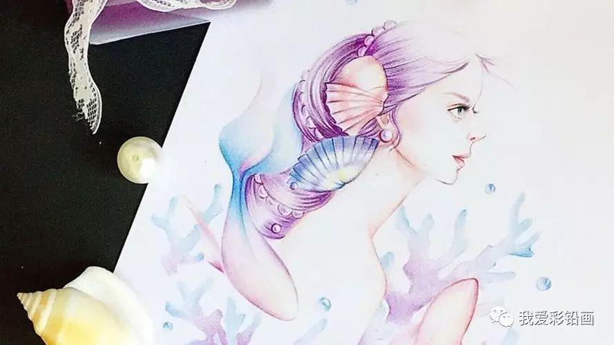 彩铅手绘唯美人物侧脸