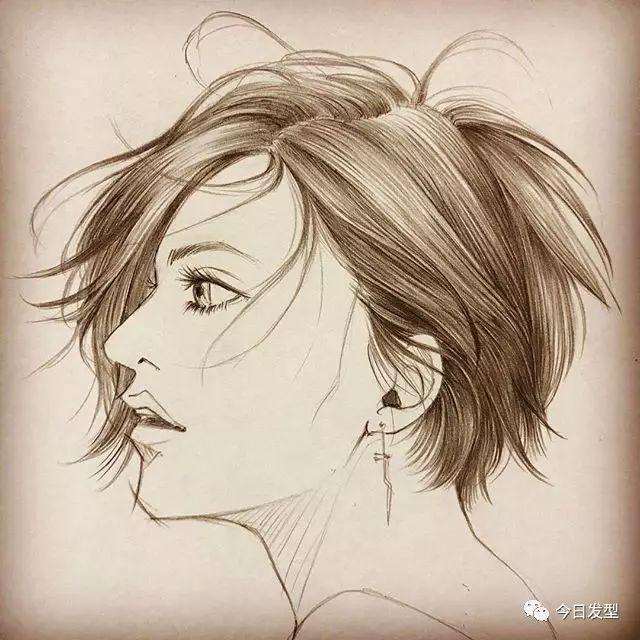 男女发型手绘