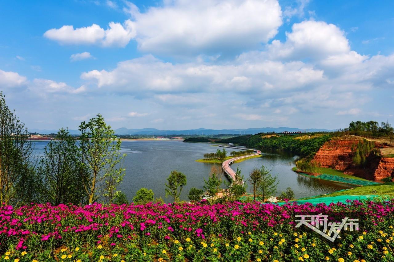 白沙湖景区导览图