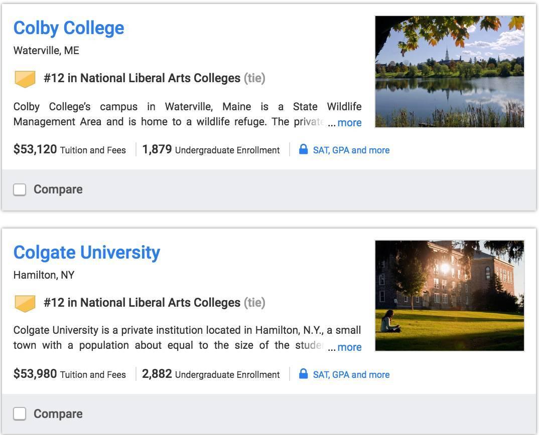 《U.S.News》:美国大学最新排名榜
