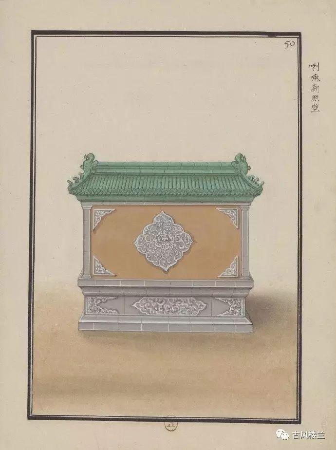 古风手绘,中国传统建筑中的照壁