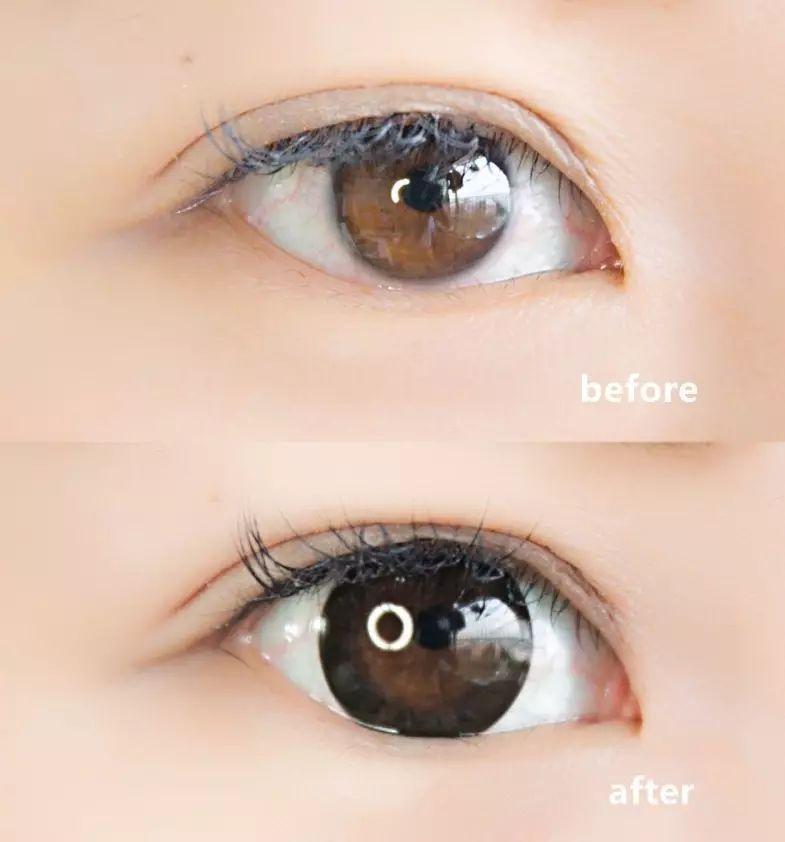 色彩分子不直接接触眼珠,更安全健康,平时戴一天下来也没有红血丝和图片