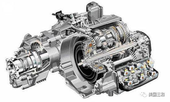双离合变速箱内部含两台自动控制的离合器,由电子控制及液压推动,能图片