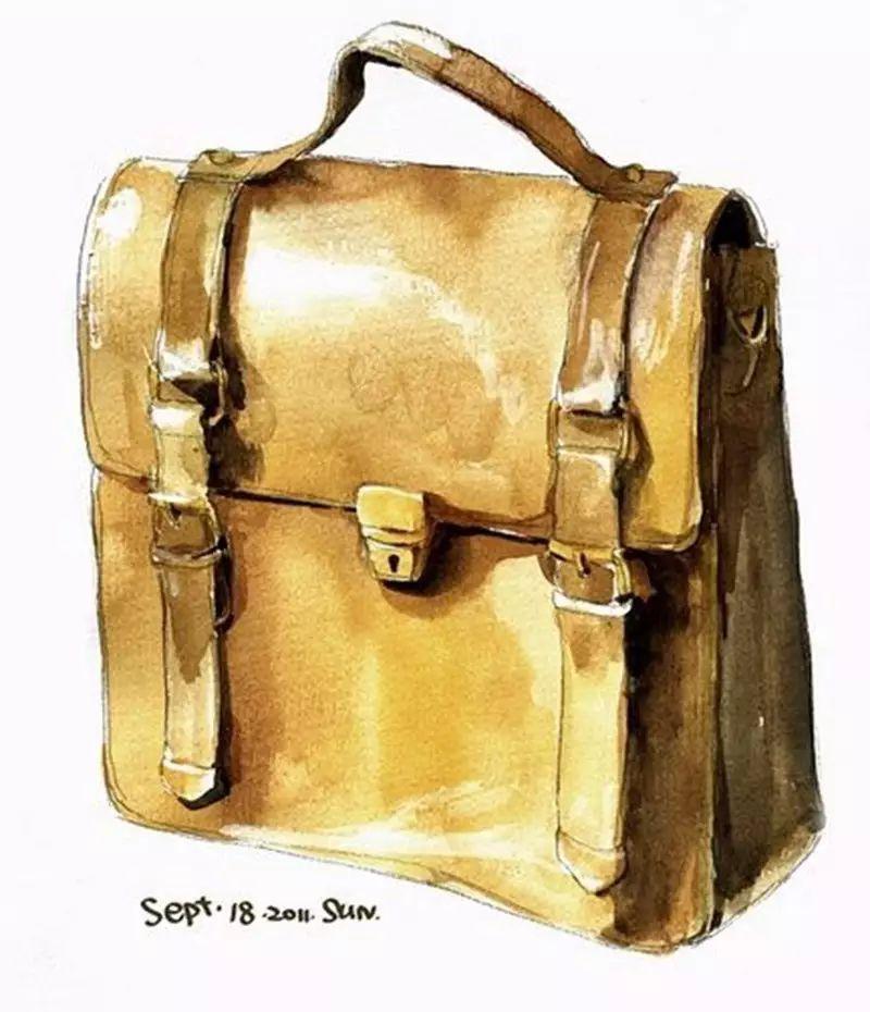 休闲背包设计手绘效果技法