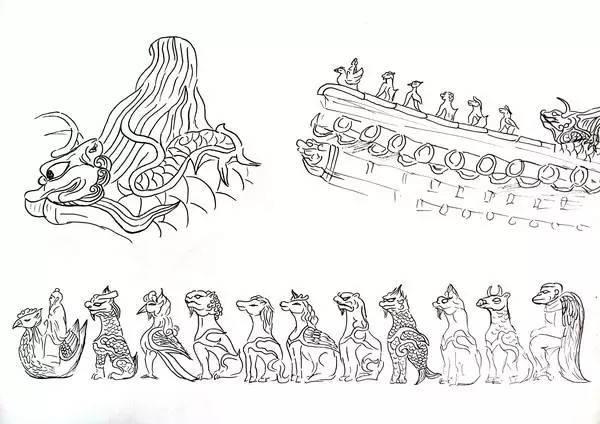 手绘动漫古代物件