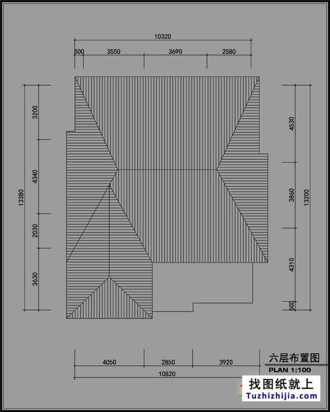 农村六层房屋设计图,传说中的高端大气上档次!