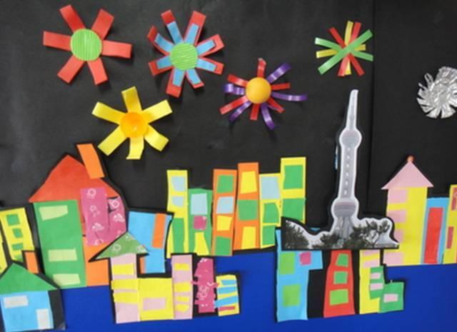幼儿园国庆手工环境创设!手工+环创!